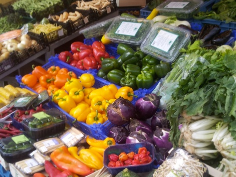 Food colour diversity at the market