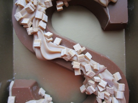 A letter of chocolate, the S from Sinterklaas